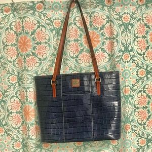 Dooney and Bourke Navy Croco Collection